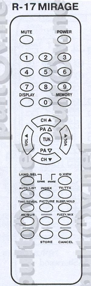 SHIVAKI R-17 MIRAGE пульт для
